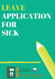 leave application for sick
