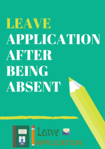 i was absent yesterday application