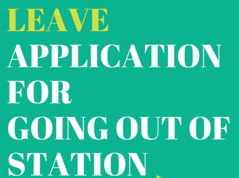 leave application for going out of station