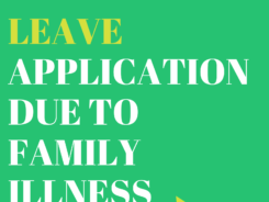 leave application due to family illness